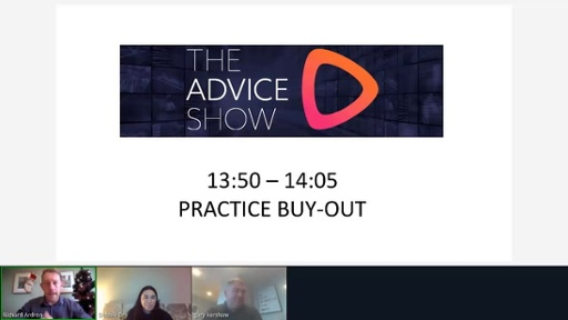 The Advice Show December 2020 - Practice buy-out