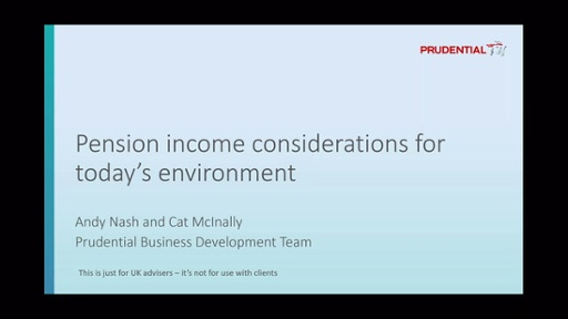 Pension income considerations for today's environment