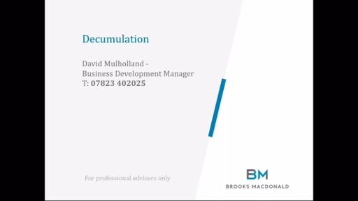 Decumulation - Understanding The Risks