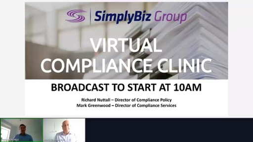 Compliance Clinic – recorded 15 July 2020