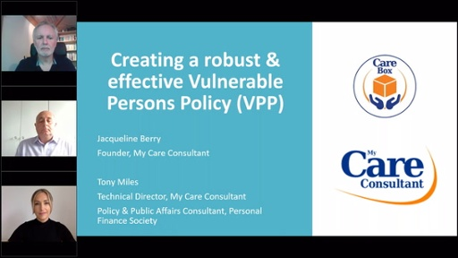 My Care Consultant - Creating a robust & effective Vulnerable Persons Policy (VPP)