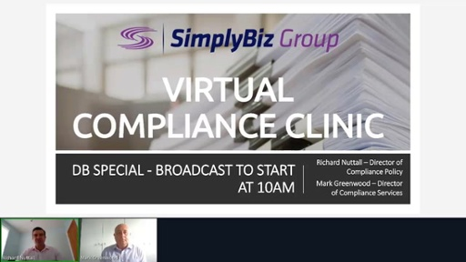 Compliance Clinic: DB Special – 3 September 2020