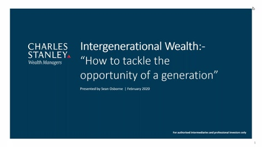Intergenerational Wealth Working With The Next Generation Of Clients