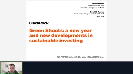 Blackrock IM – Green shoots: a new year and new developments in sustainable investing