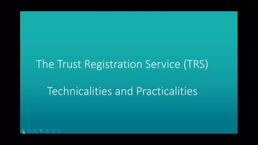 The Trust Registration Service, Technicalities and Practicalities with Graeme Robb, Senior Technical Manager at Prudential on 28th April 2021.