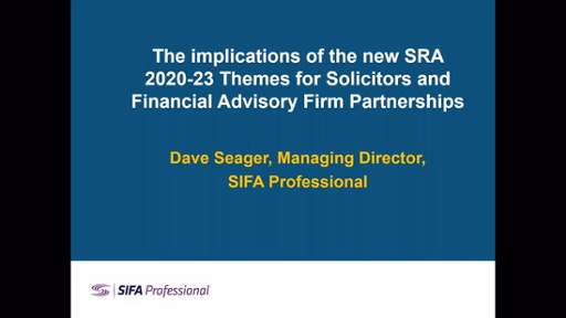 The implications of the new SRA 2020-23 Themes for Solicitors and Financial Advisory Firm Partnerships